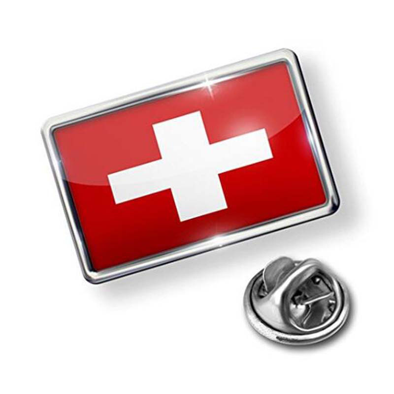 Switzerland Flag Lapel Badge