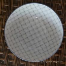 tigela de sopa de cerâmica colorida impressa