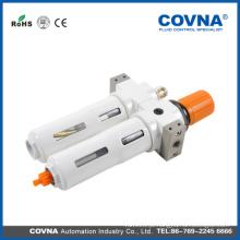 Válvula redutora de ar de 2 unidades de purga de ar com lubrificador e manómetro