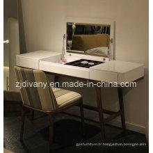 2015, nouveaux Design miroir bois blanc commode (SD-25)