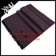 Lenço de bolinhas de inverno de escova de seda de alta moda