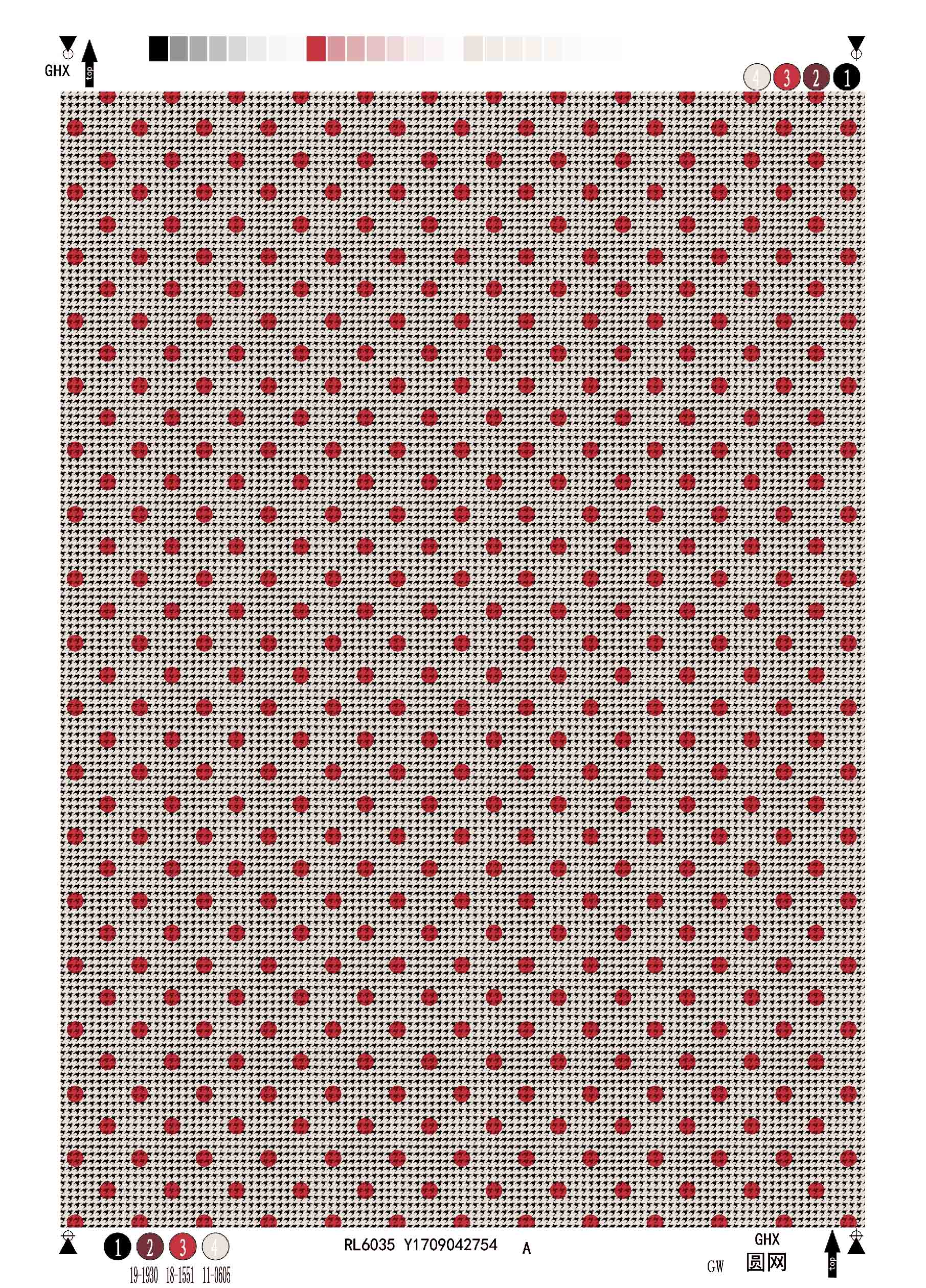 Rayon Twill Printing Fabric Houndstooth&Dots