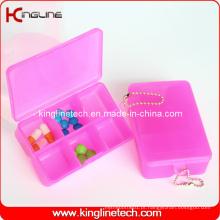 Caixa quadrada plástica de comprimidos (KL-9064)