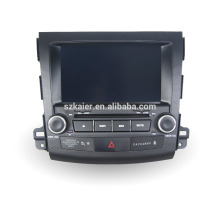 Navegación del gps del coche de cuatro núcleos con la cámara inalámbrica del Rearview, wifi, BT, vínculo del espejo, DVR, SWC para Mitsubishi outlander 2006-2011
