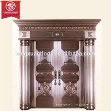 Factory Custom Expensive Exterior Bronze Door, Double Swing Copper Door