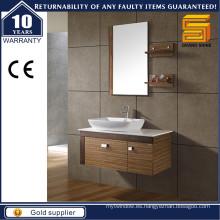 Gabinete de baño de la melamina del estilo simple colgado de la pared con la tapa del contador