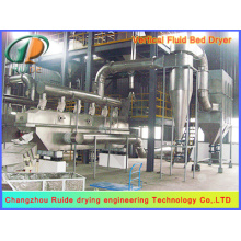 Fluid drying bed machine for mineral