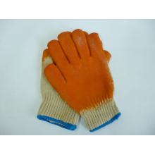 Прорезиненные защитные перчатки, сделанные из хлопка, (LG003)