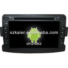Android System Auto DVD-Player für Renault Duster / Logan mit GPS, Bluetooth, 3G, iPod, Spiele, Dual Zone, Lenkradsteuerung
