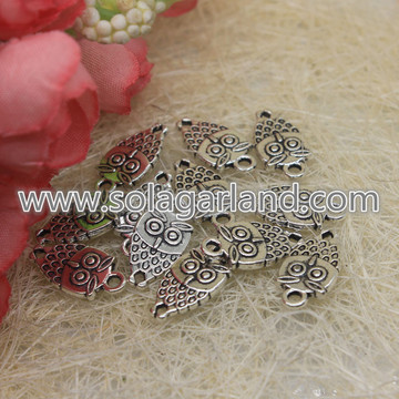 18 * 10MM Coruja Charms Antique Silver Tone Corujas adoráveis ​​do bebê