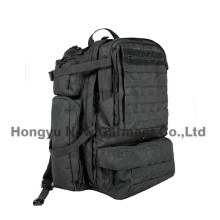Heavy Duty ejército militar gran bolso negro mochila (hy-b096)