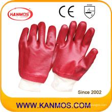 Маслостойкие ПВХ окунутые рабочие перчатки безопасности труда (51201)