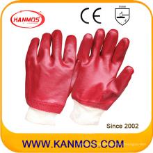 El PVC resistente al aceite sumergió los guantes de trabajo de la seguridad industrial (51201)