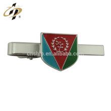 2018 vente chaude Logo entreprise cadeau en laiton personnalisé en métal pince à cravate avec boîte