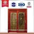 Último diseño, puerta corredera de madera de vidrio, ventana corredera de cristal