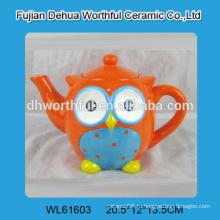 2016 новый стиль красочный сова форме керамических чайников
