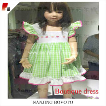 boutique summer apple dress wholesale kids dress