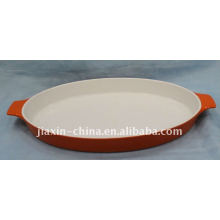 """15""""oval oven plate w/handle"""