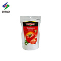 Salsa de tomate Ziplock Seal Stand Up Packaging Bags