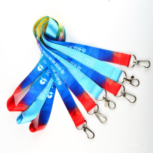 Promotion Polyester Multi-Color Dye Sublimation/Heat Transfer Logo Custom Lanyard for Gifts