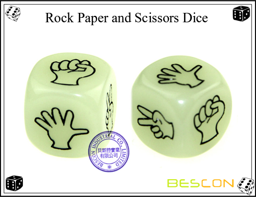 Rock Paper and Scissors Dice