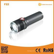 F22 Automatic Adjust Brilho Xm-L U2 LED recarregável Black Camp alumínio tático LED poderoso Lanterna