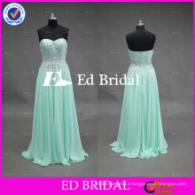 2017 ED Bridal Real Sample Sweetheart Low Back Beaded Bodice Mint Green Colored Free Prom Party Dress
