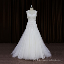 Sexy Crumpled Sash Bead Black Flower Wedding Dress