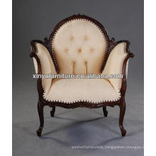 French style wooden carved arm sofa chair XY0369