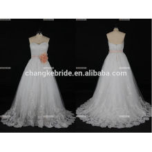 A-line Cap Sleeve Beading Suzhou Perfect Cinderella Wedding Dress Made In China