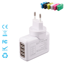 Four Ports Interchangeable Travel Plug Charger 5V=3.1A