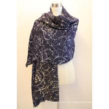 Senhora fashion viscose tecido jacquard franjas xaile (yky4406)