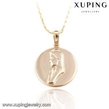 32734-Xuping joyería religiosa de alta calidad chapado en oro Virgen colgante