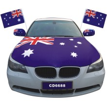 Custom advertising national car decoration engine hood cover