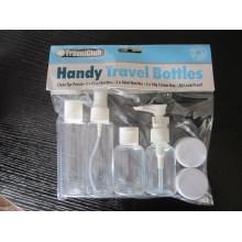 6PCS Travel Bottle Kit, Fine Mist Sprayer / Loção / Disco Top Cap Bottle, Jar