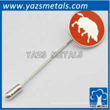 custom high quality boar lapel pin with needle
