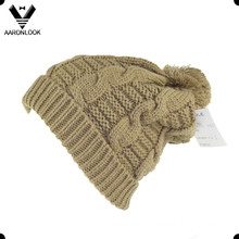 Winter Warm Cable Knit Bobble Ski Hat