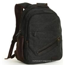 Le sac à dos de mode de sac d'école noir (hx-q027)