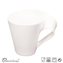 Taza de porcelana 11 oz con diseño de mango en forma de