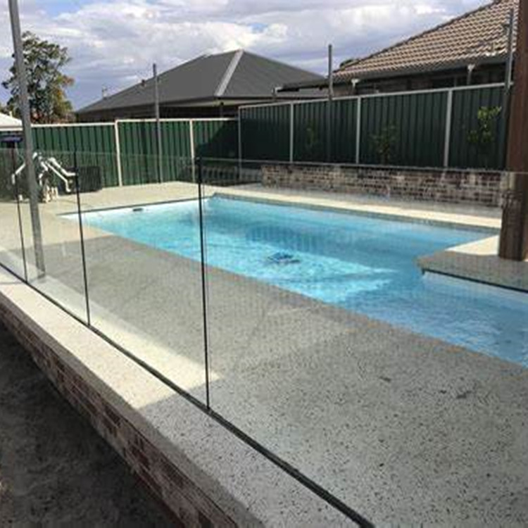 12mm Thick Clear Toughened Pool Fence Glass