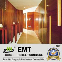 Painéis de parede de madeira da área pública do hotel de classe alta (EMT-F1203)