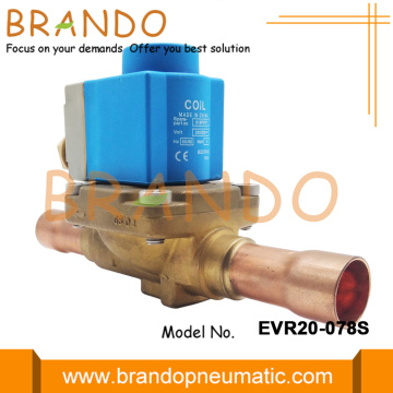 "7/8 ""EVR20 Danfoss Type Air Conditioner Solenoid Valve"
