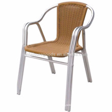 French style looking aluminum rattan bistro chair