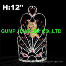 valentine's day bear tiara crown