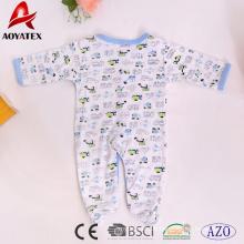 100% Baumwolle Großhandel Langarm unisex Säuglinge Kleinkinder Kleidung Baby Strampler