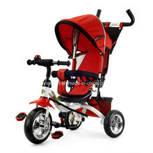 Red Color Luxury Kids Tricycle with Canopy (TR906-3EVA RED)