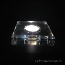 Customized acrylic crystal LED display base  lighting bottle holder wine base
