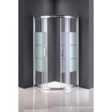 Porte en verre de salle de douche d'articles sanitaires sans plateau
