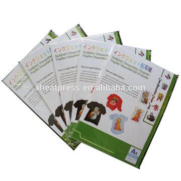 A4 size inkjet heat transfer paper for garment