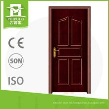 Puerta de madera residencial del pvc exterior de nuevo diseño de lujo para las casas de la decoración de China